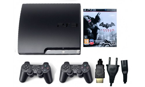 Konsola PS3 SLIM 2xPAD DYSK 320GB