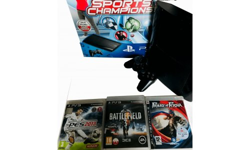 Konsola PS3 SUPER SLIM Gry okablowanie pad