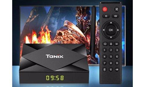 Odtwarz Multimedialny TX6 TANIX 4/32 GB ANDROID 10 SMART TV BOX PRZYSTAWKA